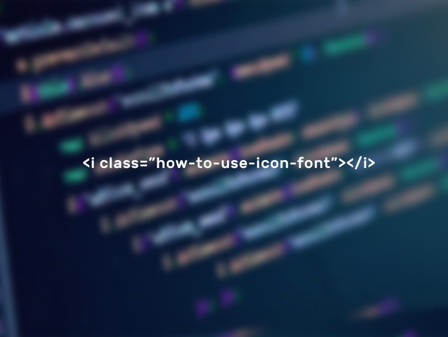 use icon fonts